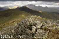 Looking to Snowdon from Craig Cwm Silyn