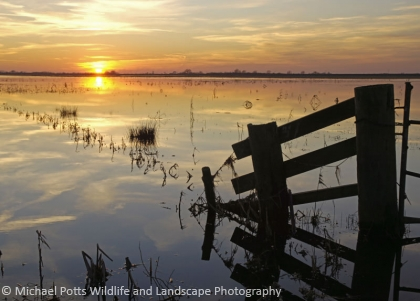 Sunset on the Ouse Washes